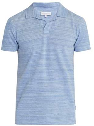 Orlebar Brown Felix Cotton Polo Shirt - Mens - Blue