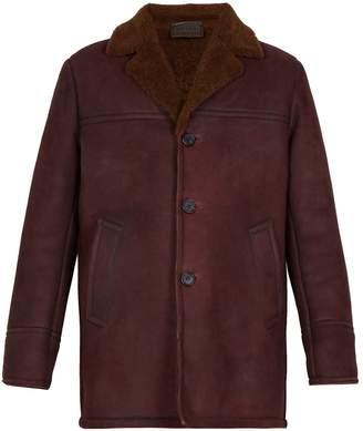 Prada Three-button shearling jacket