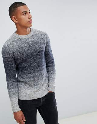 Jack and Jones Originals knitted sweater with mixed yarn fade