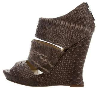 Alexandre Birman Python Caged Wedges