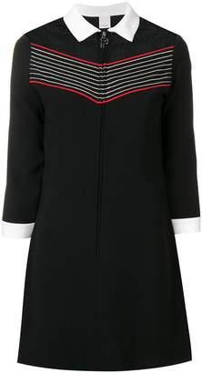 Pinko striped detail polo dress