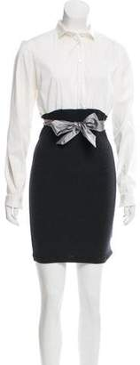 Brunello Cucinelli Long Sleeve Mini Dress