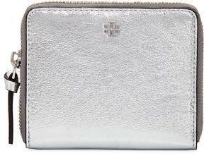 Tory Burch Tory Burch Square Crinkled Leather Zip Wallet