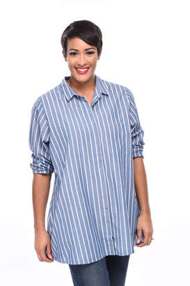 Tulip Stripe Tunic Shirt