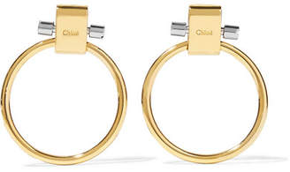 Chloé Gold And Silver-tone Earrings