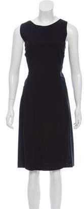 Versace VJC Mesh-Accented Midi Dress w/ Tags