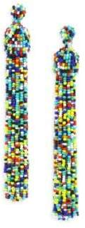 Kenneth Jay Lane Multicolor Beaded Tassel Earrings