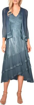 Komarov Asymmetrical Jacket Dress