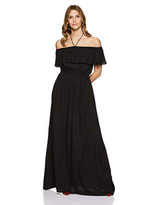Boutique23 Womens Off Shoulder Halter Neck Color Maxi