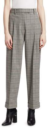 3.1 Phillip Lim Checked Wool Tapered Pants