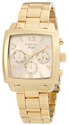 Invicta Women's 12101 Angel Dial 18k Ion-Plated Stainless Steel Watch