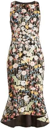 Peter Pilotto Kia floral-print cady midi dress
