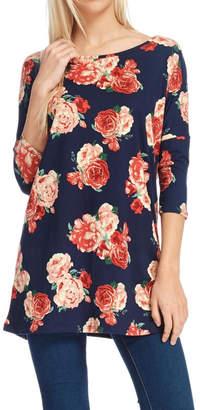 Reborn J Floral Tunic Top