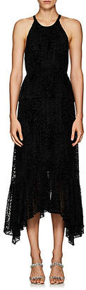 A.L.C. Women's Rosa Leopard-Pattern Velvet Halter Dress - Black