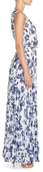 Women's Eliza J Floral Pleat Chiffon Maxi Dress 3