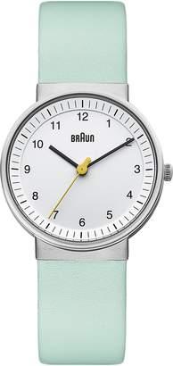 Braun Women's BN0031WHTQL Classic Turquoise Analog Display Japanese Quartz Green Watch