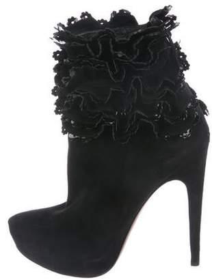 Alaia Platform Ankle Boots