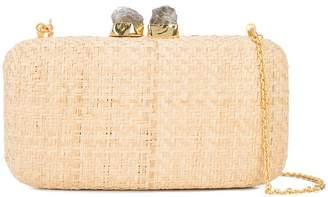 Kayu chain strap woven clutch bag