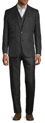 Robert Graham Jacquard Wool Silk Three-Piece Suit