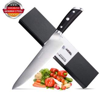 """Rackaphile 8"""" Sharp Chef's Knife, German High Carbon Stainless Steel with Ergonomic Handle and Gift Box"""