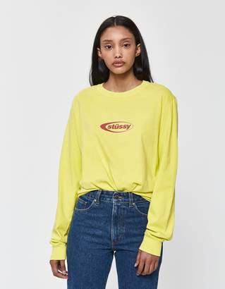 Stussy Eclipse Long Sleeve Tee in Lime