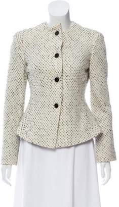 Armani Collezioni Collarless Tweed Jacket