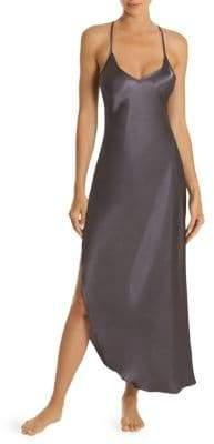 Asymetrical Satin Nightgown
