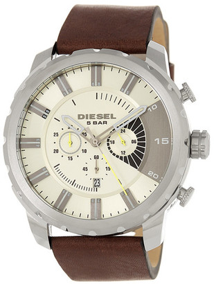 Diesel Men&s Stronghold Leather Watch $220 thestylecure.com