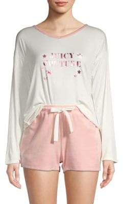 Juicy Couture 2-Piece Tee & Shorts Lounge Set