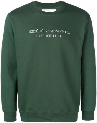 Societe Anonyme logo printed sweatshirt