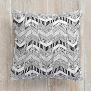 Organic Herringbone Square Pillow