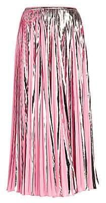 Marni Women's Metallic Pleated Midi Skirt