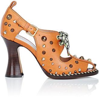 Maison Margiela Women's Stud-Embellished Leather Sandals $1,290 thestylecure.com