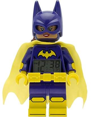 Lego Batman Movie 9009334 Kids Minifigure Alarm Clock | Purple/Yellow | Plastic | 9.5 inches Tall | LCD Display | boy Girl | Official