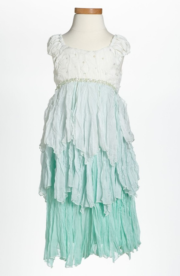 Biscotti 'Clair de Lune' Dress (Little Girls) Turquoise 6