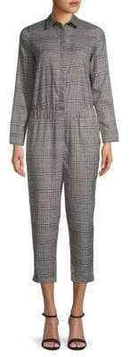 Lucca Couture Dylan Cropped Plaid Jumpsuit
