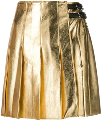 MSGM A-line pleated skirt