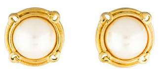 Givenchy Faux Pearl Stud Earrings