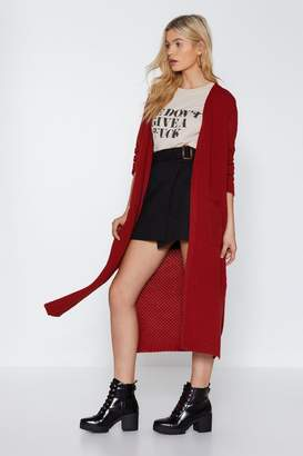 Nasty Gal In the Long Run Knit Cardigan