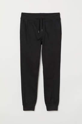 H&M Slim Twill Joggers - Black