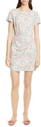 Rebecca Taylor Kamea Ruched Detail Cotton Jersey Dress
