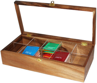 Woodard & Charles 10-Compartment Tea Box