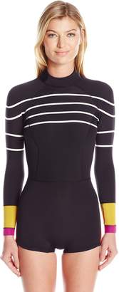 Cynthia Rowley Women's Stripe and Colorblock Wetsuit