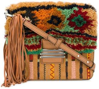 Etro fringed Rainbow crossbody bag with embroidery