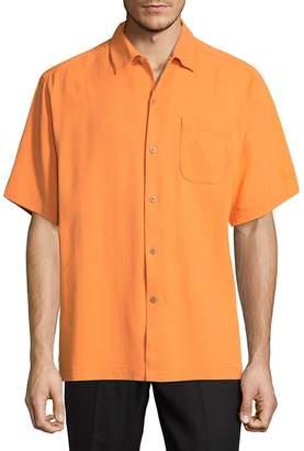Tommy Bahama Men's Short-Sleeve Silk Button-Down Shirt