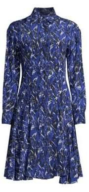 Derek Lam Graphic Print Button-Down Shirtdress