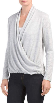 Made In Usa Surplice Cozy Knit Top