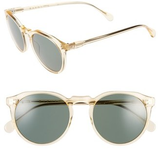 Men's Raen 'Remmy' 52Mm Polarized Sunglasses - Champagne Crystal/ Green $170 thestylecure.com