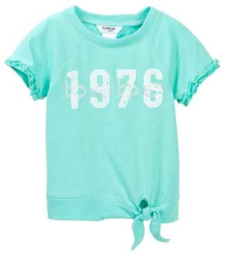 Bebe Tie Front Active Top (Toddler & Little Girls)