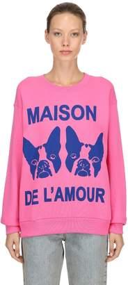 Gucci Maison De L'amour Cotton Sweatshirt